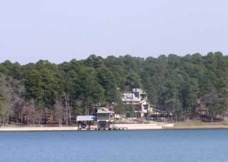HGTV Dream Home 2005 ... on Lake Tyler near Tyler, Texas ... seen from across the lake