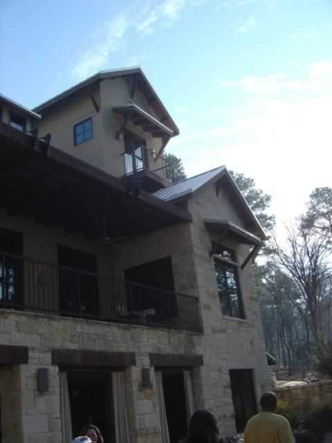 Photo of the back of the HGTV Dream Home in Tyler Texas on Lake Tyler