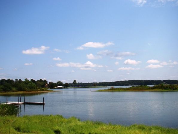 Lake Tyler, looking north from the marina near the dam